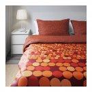 IKEA Smorboll Orange KING Duvet COVER Pillowcase Set SMÖRBOLL Dots Modern