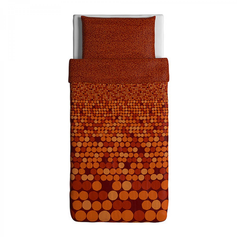 Ikea smorboll orange twin duvet cover pillowcase set for Ikea in orange county
