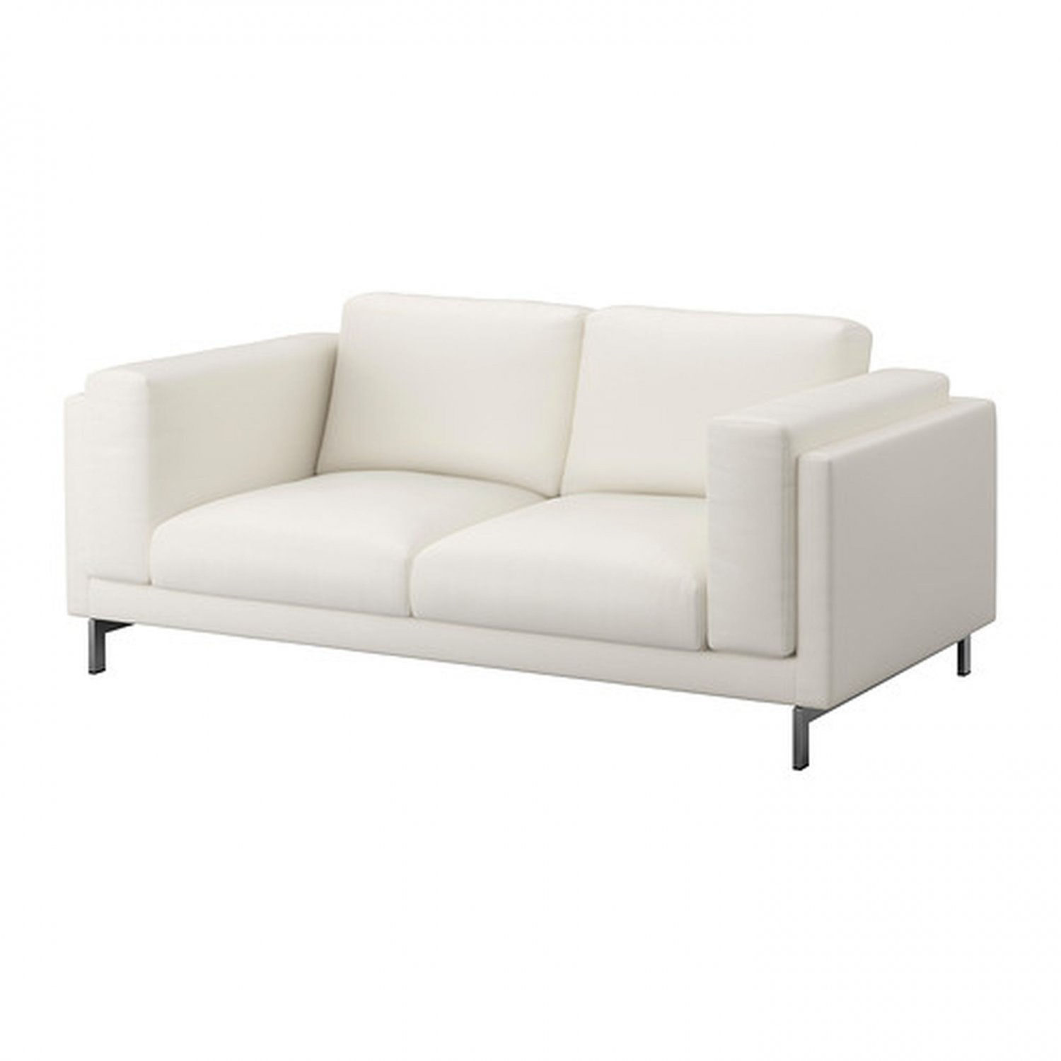 Ikea nockeby 2 seat sofa slipcover loveseat cover risane white linen blend White loveseat slipcovers