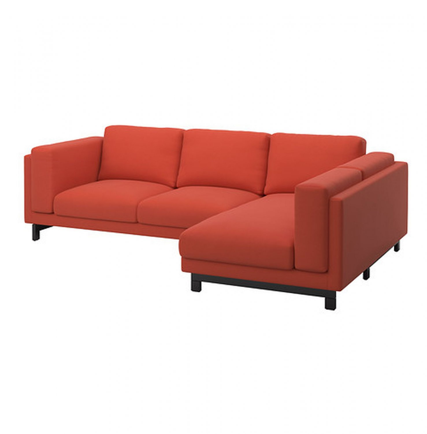 Ikea Nockeby Slipcover Loveseat W Chaise Right Cover Risane Orange