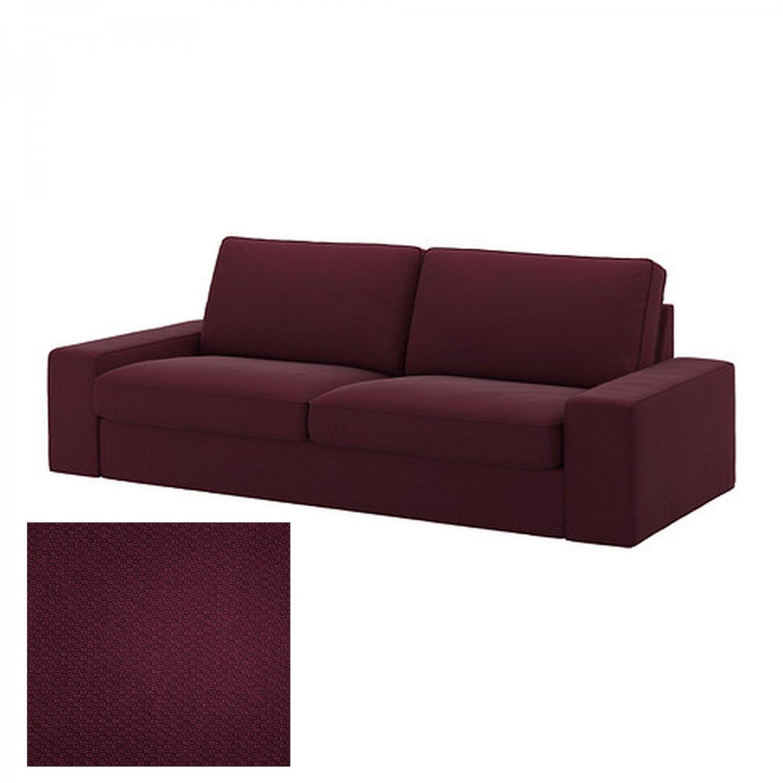 Ikea kivik 3 seat sofa slipcover cover dansbo red lilac for Sofa retailers