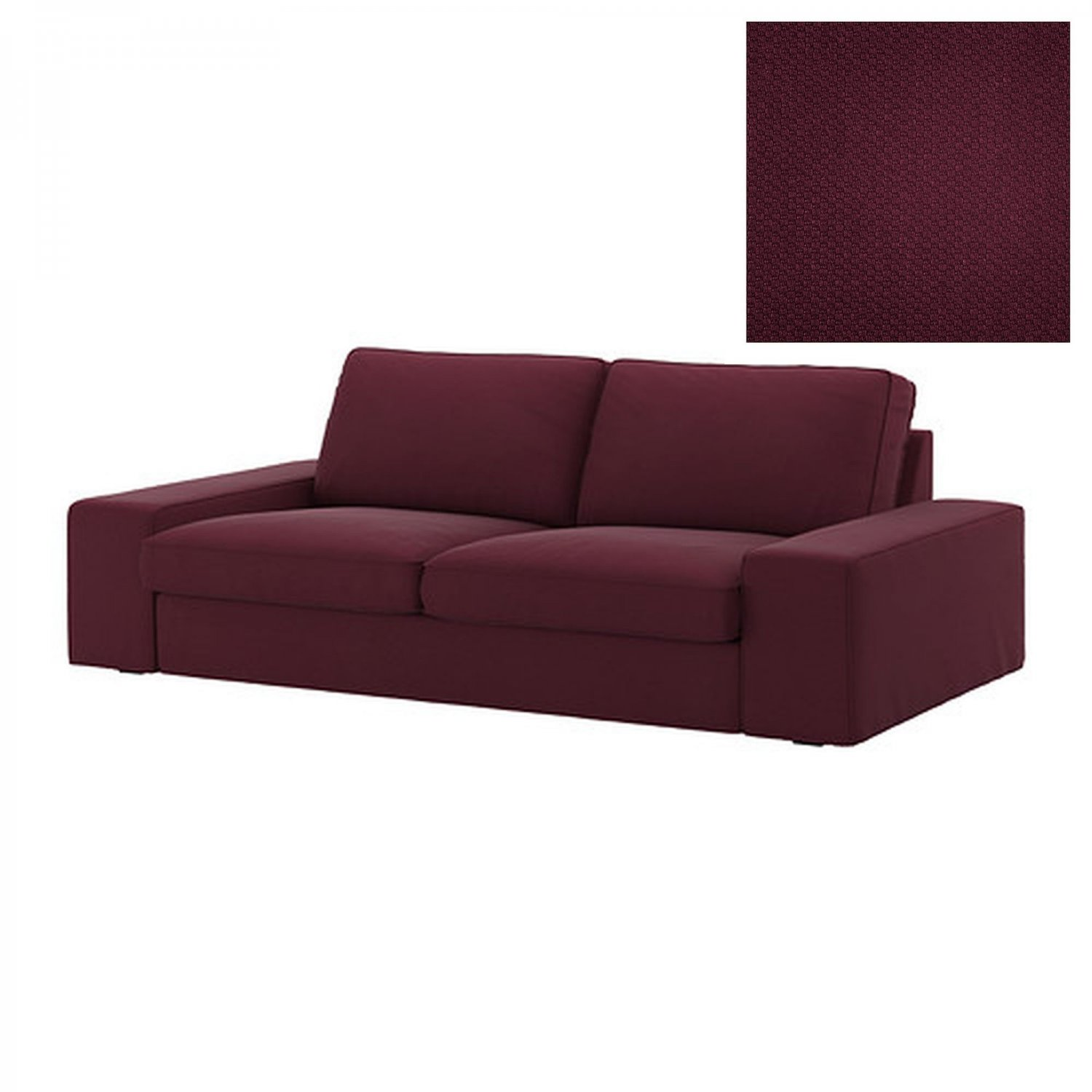 Ikea Kivik 2 Seat Sofa Slipcover Loveseat Cover Dansbo Red Lilac Red Lilac Purple