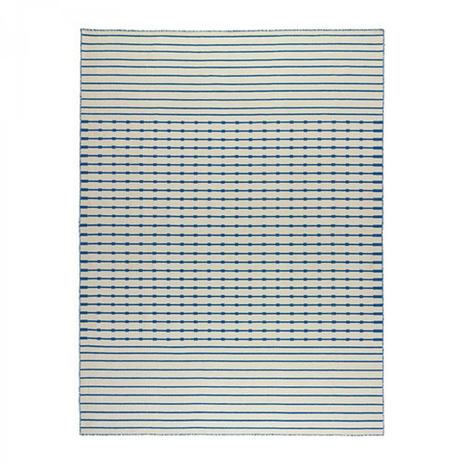 Blue And White Scandinavian Rug: IKEA TJAREBY Area RUG Mat WOOL Blue White Striped Hand
