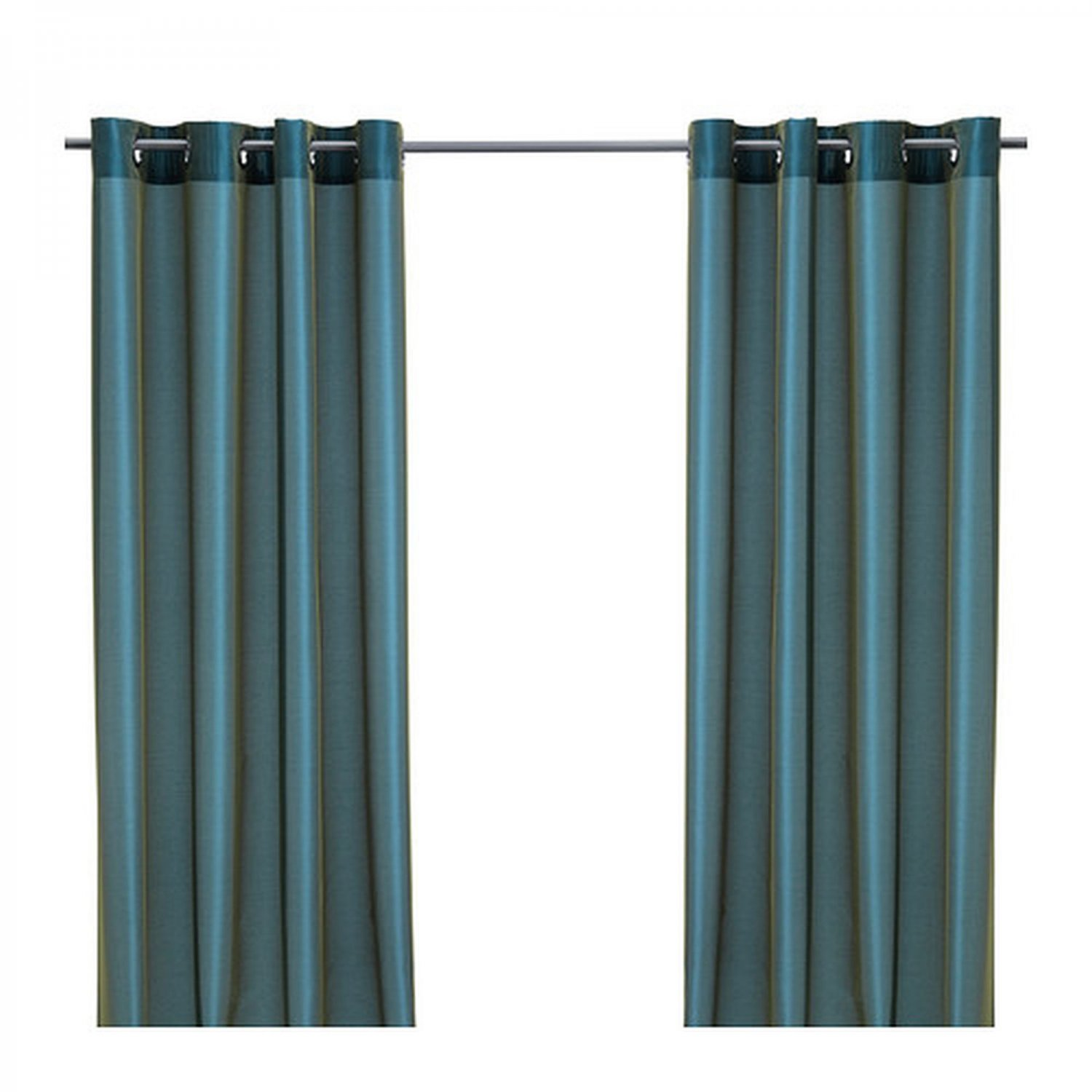 ikea parlbuske curtains green blue drapes 98 p rlbuske