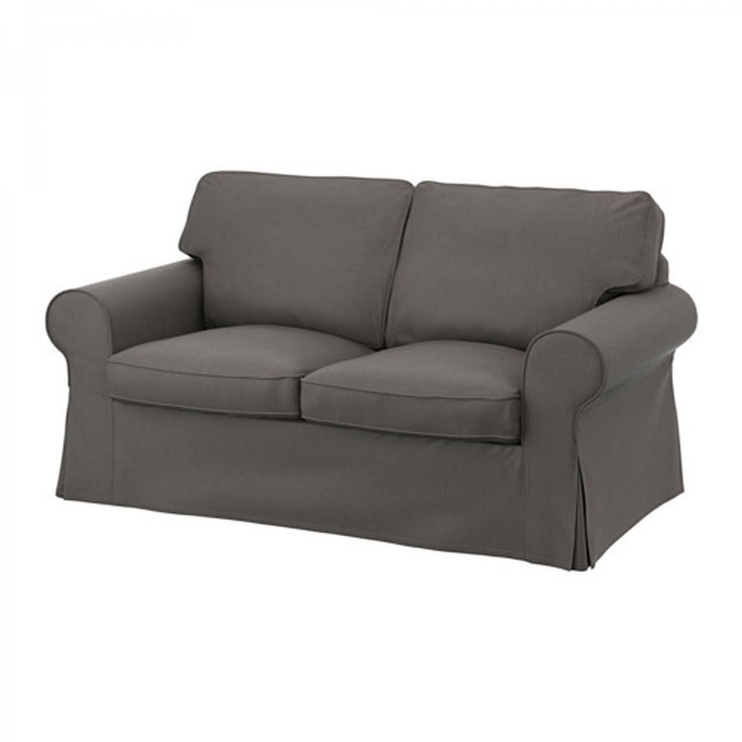 Ikea ektorp 2 seat sofa cover loveseat slipcover nordvalla gray grey Couch and loveseat covers