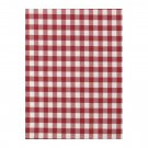 IKEA BERTA RUTA Fabric Material MEDIUM CHECK Red White 1 Yd YARN DYED Gingham