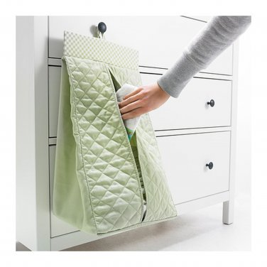 IKEA Nanig Diaper Stacker LIGHT GREEN Baby Nursery Storage Bag Unisex Girl Boy