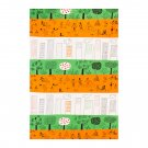 IKEA Entire BOLT of  ONSKEDROM Fabric Material City Children Trees 27Yd ÖNSKEDRÖM Orange Green