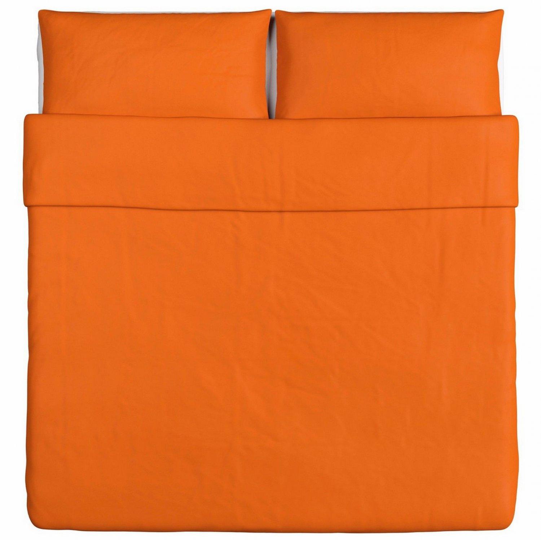 Ikea dvala king duvet cover pillowcases set orange cotton for Ikea in orange county