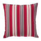 "IKEA Vinter 2016 CUSHION COVER Pillow Sham RED Gray White 20"" x 20"" Stripes Xmas"