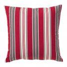 "IKEA Vinter 2016 CUSHION COVER Pillow Sham RED Gray White 20"" x 20"" Stripes Xmas"
