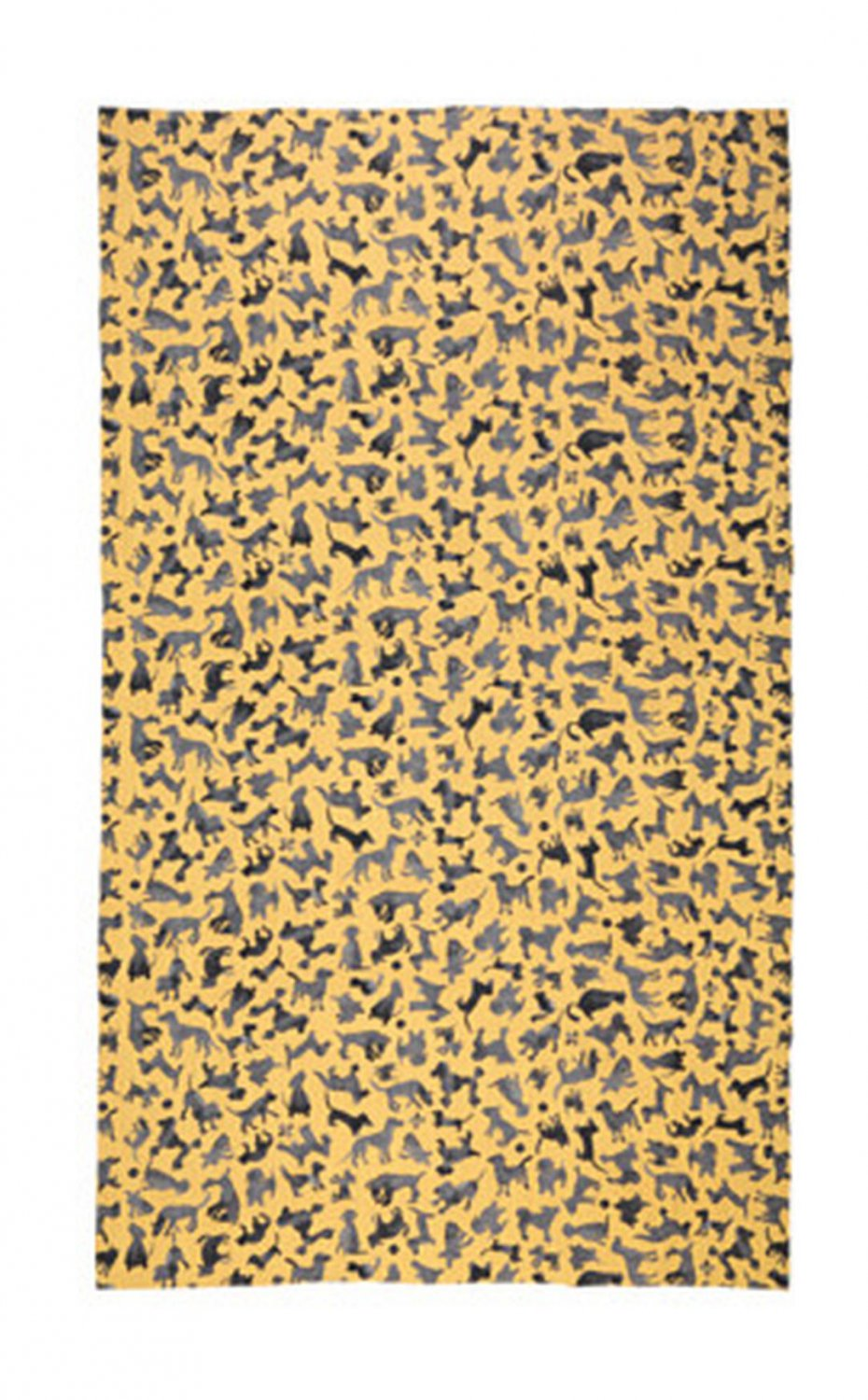 IKEA Sallskap Fabric Material DOGS Stripes 3.25 Yd S�LLSKAP Gold Gray Yellow Pre-cut