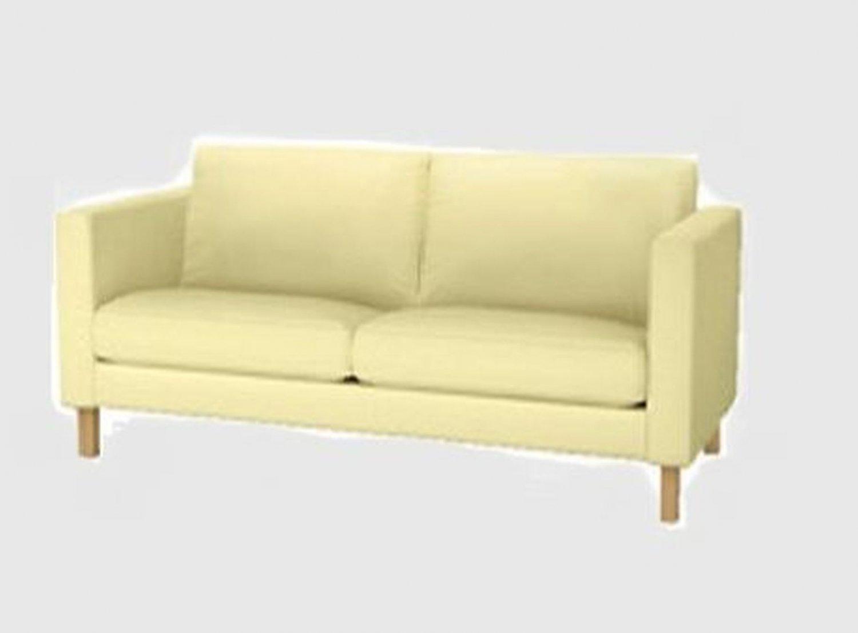Ikea Karlstad Loveseat Sofa Slipcover Cover Sivik Light Yellow 2 Seat Mid Century Modern