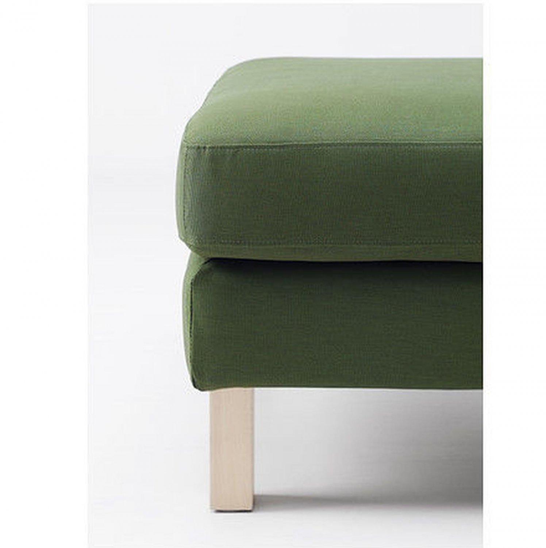 IKEA Karlstad Footstool Ottoman SLIPCOVER Cover SIVIK DARK GREEN Mid Century Modern