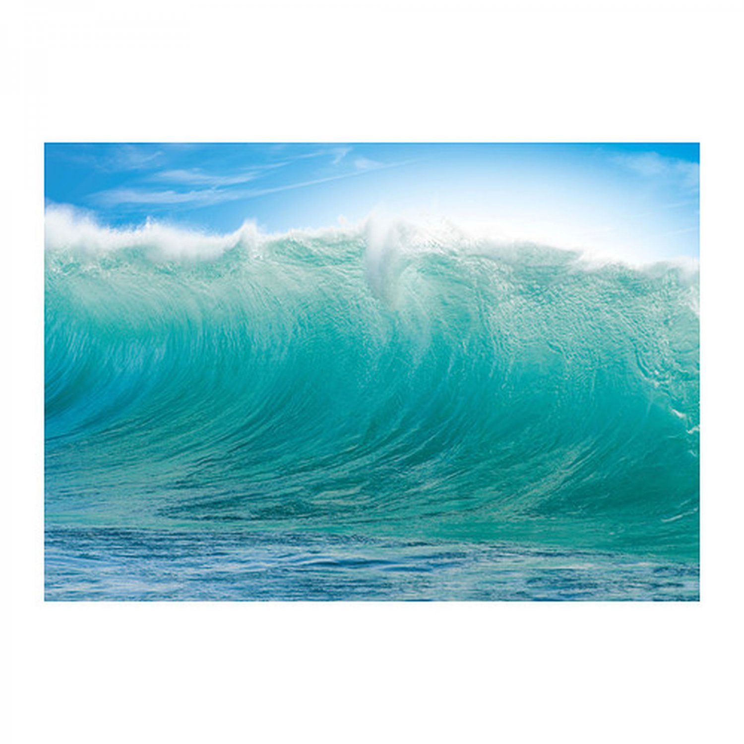 ikea premiar hawaii waves blue wall art print huge surfer