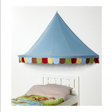 IKEA Child's MYSIG BED TENT Canopy Toy Blue Xmas Girl Boy Unisex Crib Circus Castle