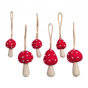 IKEA VINTER 2016 Mushrooms Xmas Decorations Holiday Ornaments Anime Doll Party Table