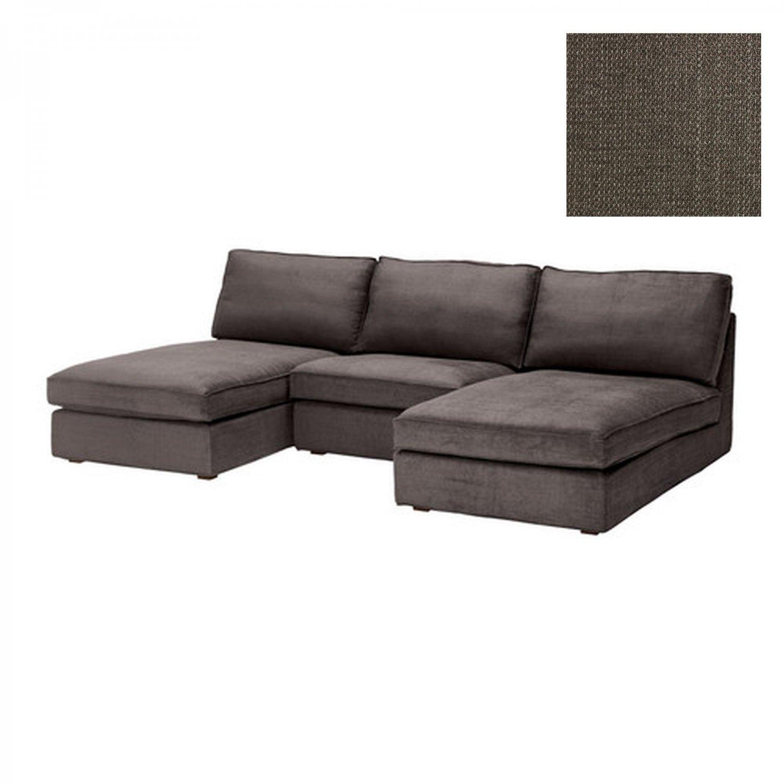 Ikea kivik 3 seat chaise combo slipcover cover tullinge for Housse chaise ikea