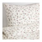 IKEA Ljusoga TWIN Single Duvet COVER Pillowcase Set Floral Delicate Flower Sprays LJUSÖGA