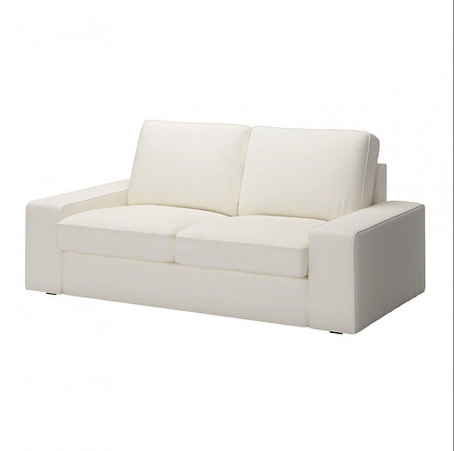 Ikea kivik 2 seat sofa slipcover loveseat cover dansbo white White loveseat slipcovers