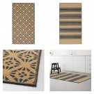 IKEA Vinter 2016 GRAY Striped Tolle Pattern RUG Area Throw Mat LOW PILE Natural Gray XMAS Grey
