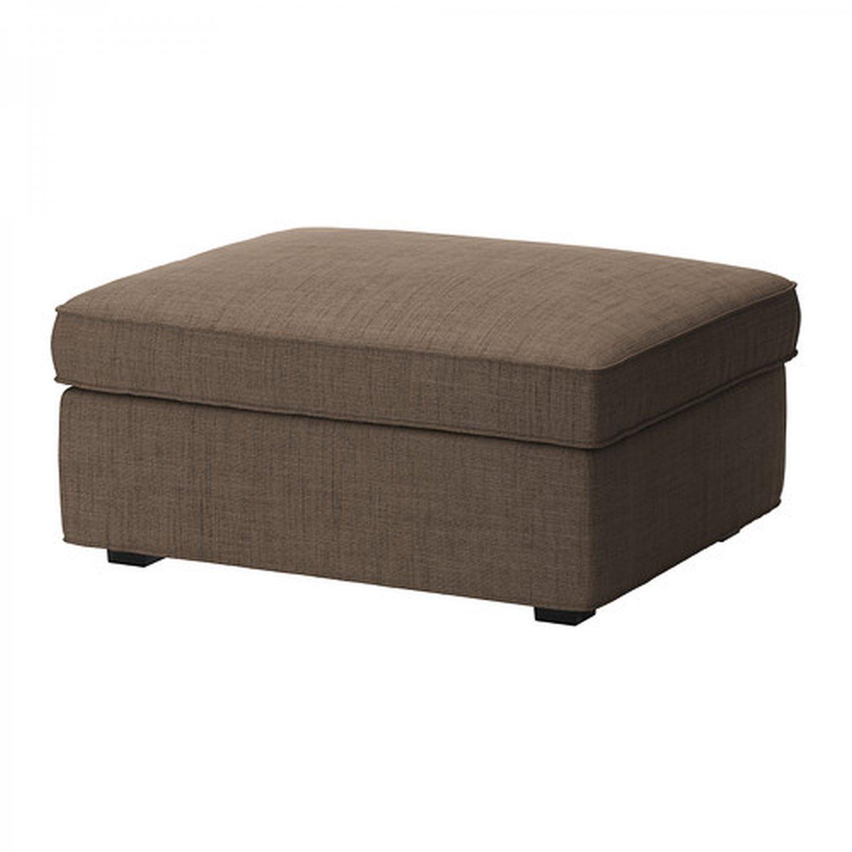 ikea kivik footstool slipcover ottoman cover isunda brown bezug housse. Black Bedroom Furniture Sets. Home Design Ideas