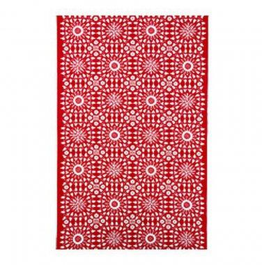 IKEA Snoa Flinga Fabric Snowflake Winter RED Scandinavian XMAS 1 Yd Tolle