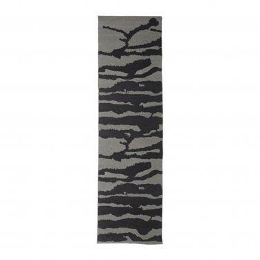 """IKEA Svartan Area Runner RUG Mat Black Gray WOOL Modern Art SV�RTAN Flatwoven 2 ' 11 """"x9 ' 10 """""""
