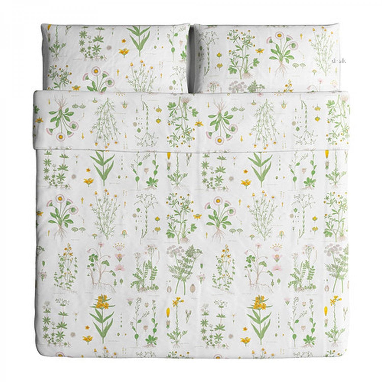 Ikea Strandkrypa Queen Full Duvet Cover Pillowcases Set