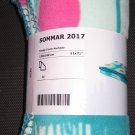 IKEA Sommar 2017 Fleece Throw BLANKET Bedspread Afghan Green Pink Dots