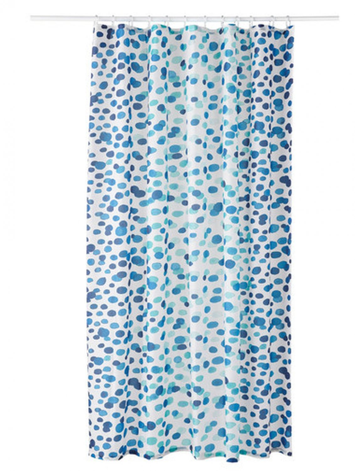ikea skorren fabric shower curtain blue white turquoise. Black Bedroom Furniture Sets. Home Design Ideas