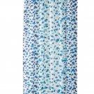 IKEA Skorren Fabric SHOWER Curtain BLUE White Turquoise Green Dots Spots