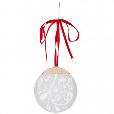 "IKEA STRALA LED Circle Decoration battery operated Red Ribbon 6"" STR�LA Glansa Kallt"