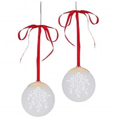 "IKEA STRALA 2 Pack LED Circle Decoration battery operated Red Ribbon 5"" STR�LA Glansa Kallt"