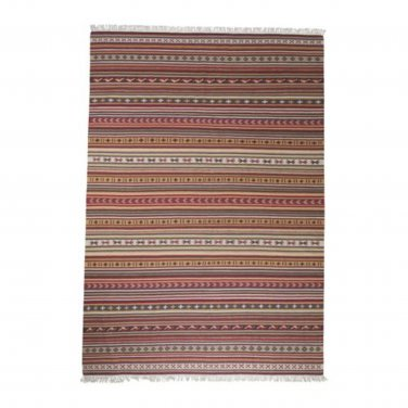 IKEA Kattrup Area RUG Mat WOOL Multicolor Red Hand-Woven Flatwoven INDIA Ethnic
