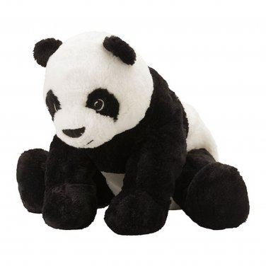IKEA Kramig PANDA Bear SOFT Plush Toy BLACK WHITE Baby Safe