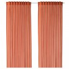 "IKEA Vivan CURTAINS Drapes ORANGE 2 Panels Ice 98"" Length"