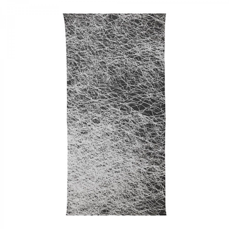 IKEA Svartan Fabric Material Black White Gray Design 3.25 Yd SV�RTAN Indian Ethnic Branch Weaving