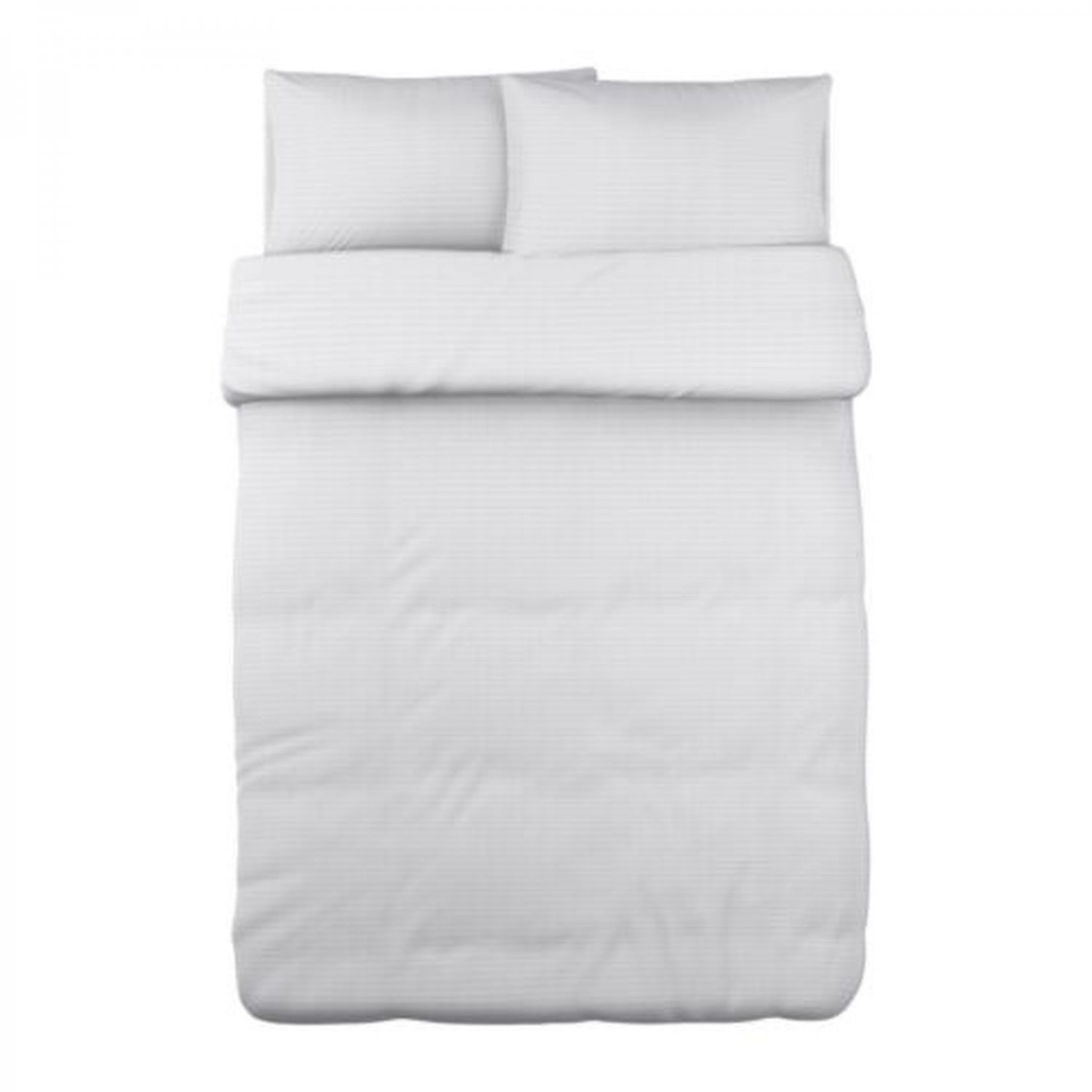 IKEA Ofelia Vass WHITE Pleated QUEEN Full Double DUVET COVER and Pillowcases Set