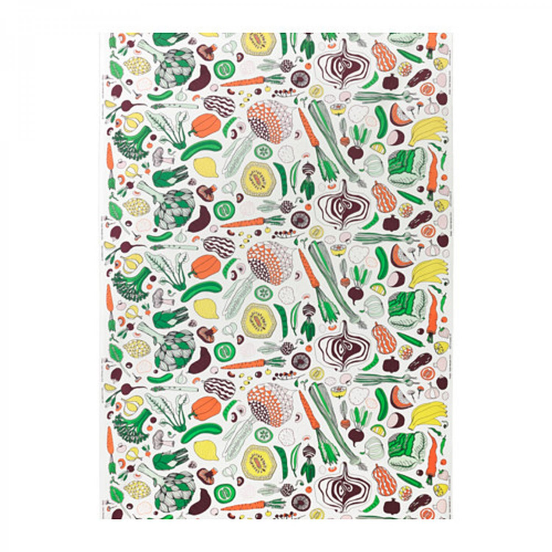 IKEA Hemtrevnad VEGETABLE Pattern Fabric Material 1 Yd Multicolor Fruit Farm Garden Produce