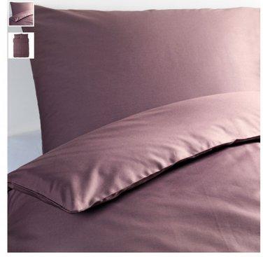 IKEA Gaspa KING Duvet COVER and  Pillowcases Set DARK LILAC Purple G�SPA Soft
