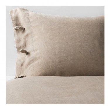 IKEA Linblomma KING Duvet COVER and Pillowcases Set LINEN Natural Beige