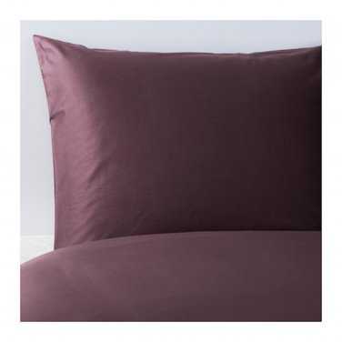 IKEA Gaspa QUEEN Full Duvet COVER and  Pillowcases Set DARK LILAC Purple G�SPA Soft