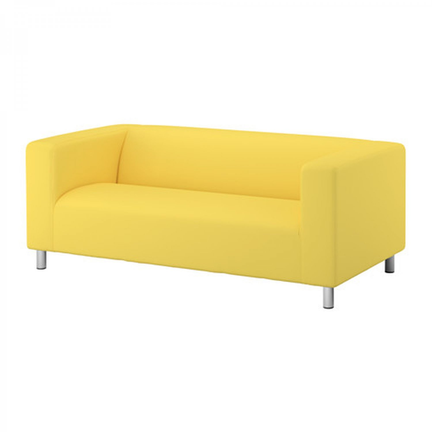 Ikea klippan loveseat sofa slipcover cover vissle yellow Klippan loveseat covers