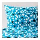 IKEA Solbrud TWIN Single Duvet COVER Pillowcase Set BLUE Stars Comets Unisex