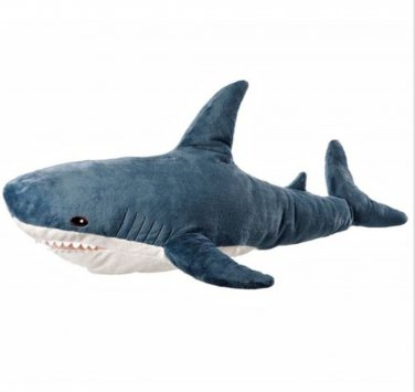 "IKEA Blahaj SHARK Blue White LARGE 42"" Soft Plush Toy NWT Retired"