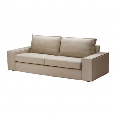 IKEA Kivik 3 Seat Sofa SLIPCOVER Cover DANSBO BEIGE