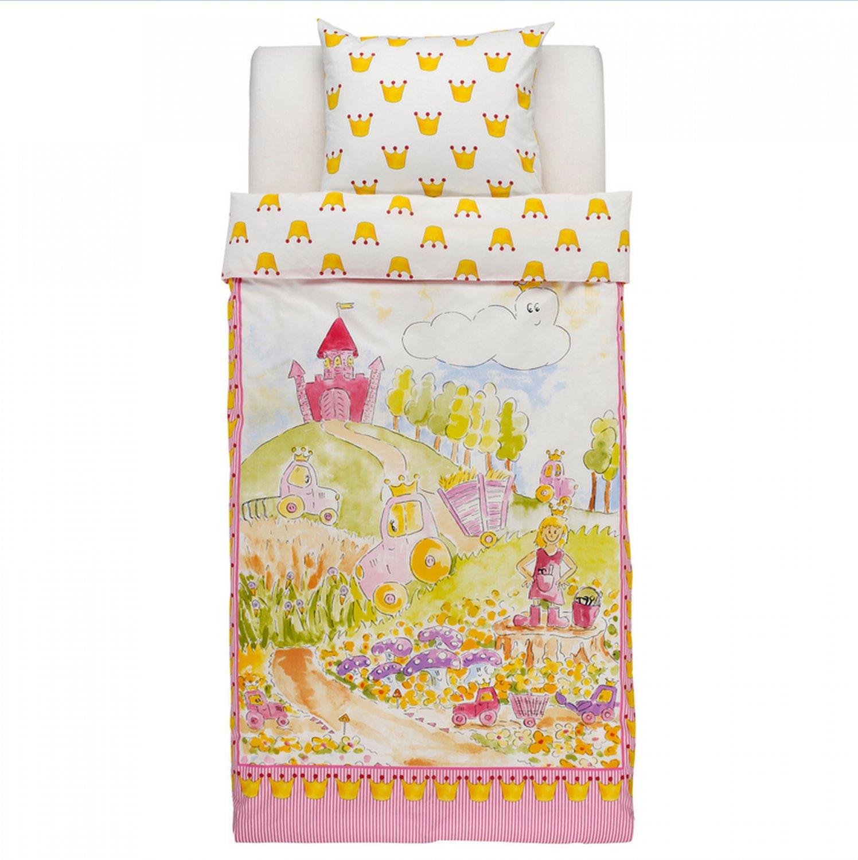 IKEA Naturkar Fairy Tale TWIN DUVET COVER Set PINK Princess Castle Kingdom NATURK�R