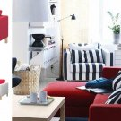IKEA KARLSTAD Armchair w add-on Chaise SLIPCOVERS Chair Loungue COVERS Sivik PINK RED Watermelon