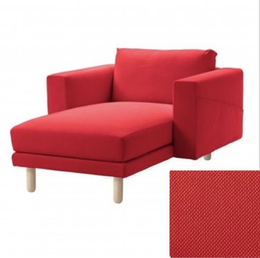 IKEA Norsborg Chaise w Arms SLIPCOVER Cover FINNSTA RED 1 Seat Sectional COVER